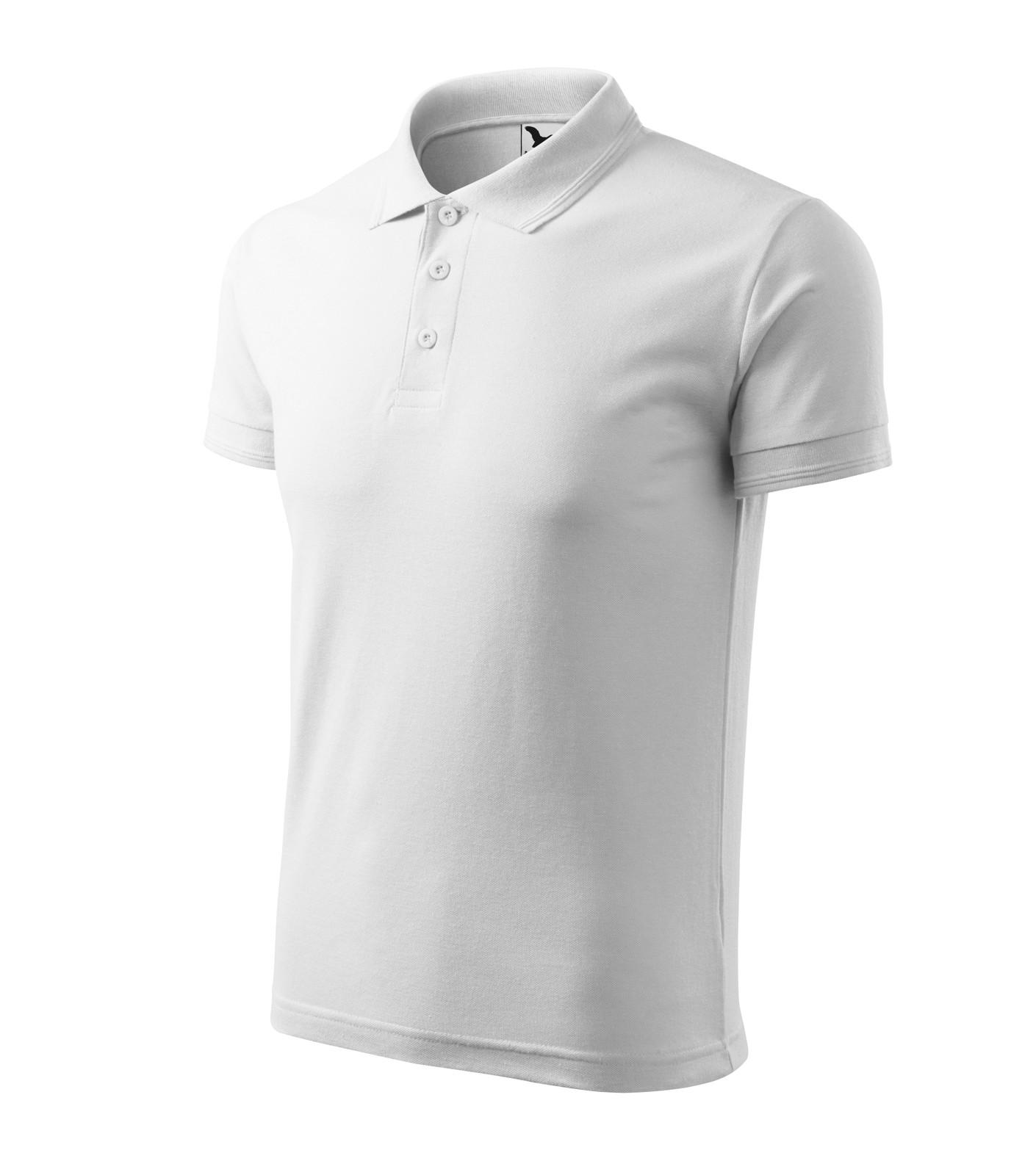 Polo Shirt men's Malfini Pique Polo - White / 4XL