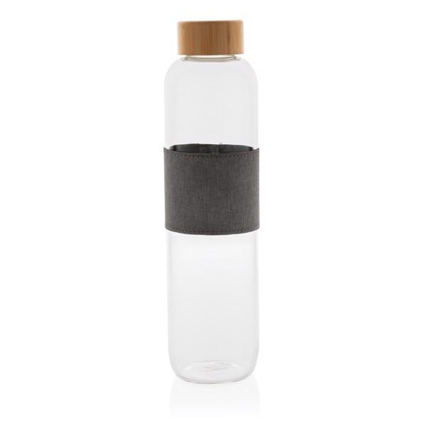 Steklenica iz borosilikatnega stekla s pokrovom iz bambusa Impact