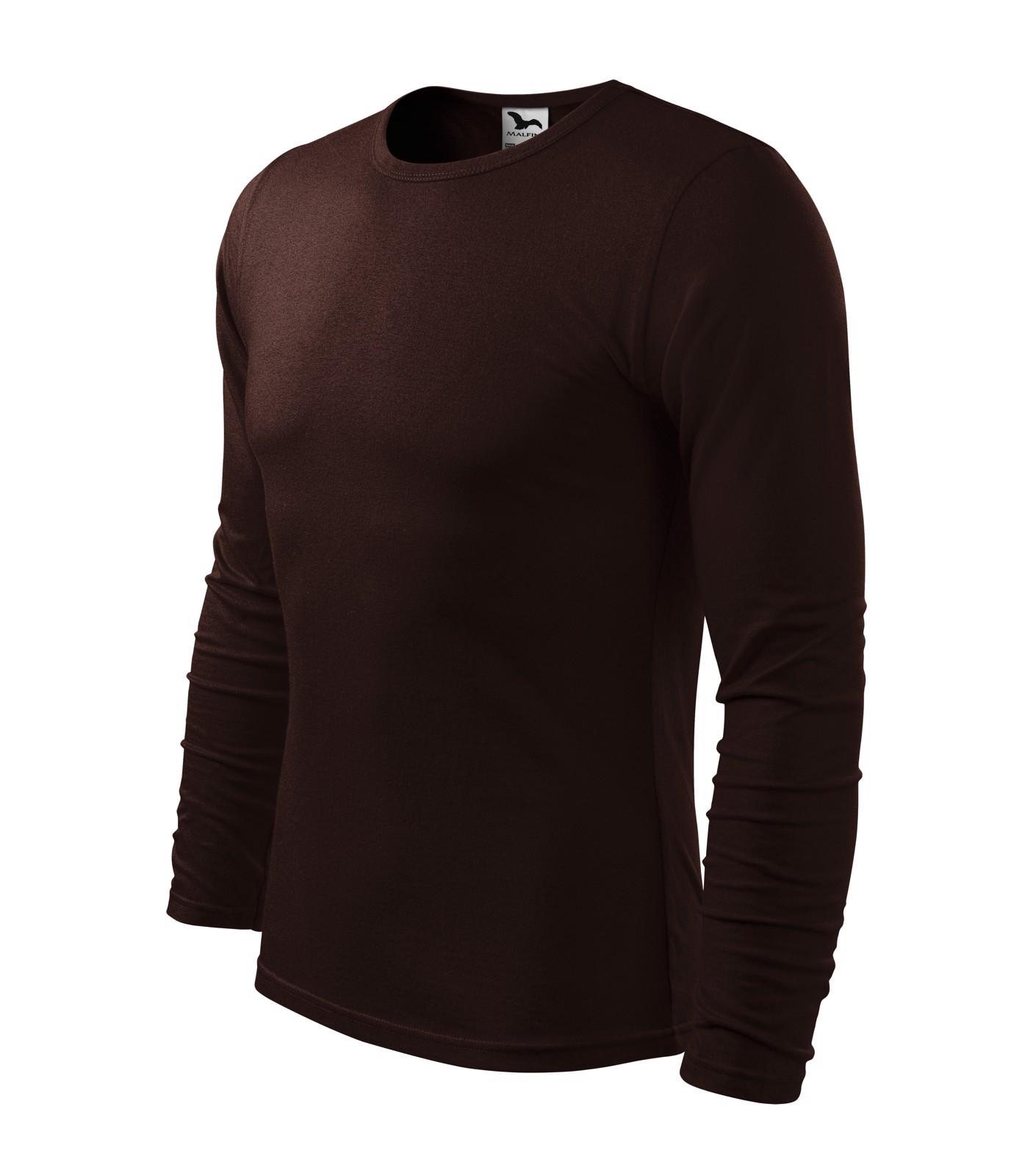 T-shirt men's Malfini Fit-T LS - Coffee / L