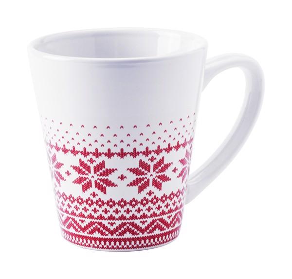 Vánoční Hrnek Nuglex - Bílá / Červená