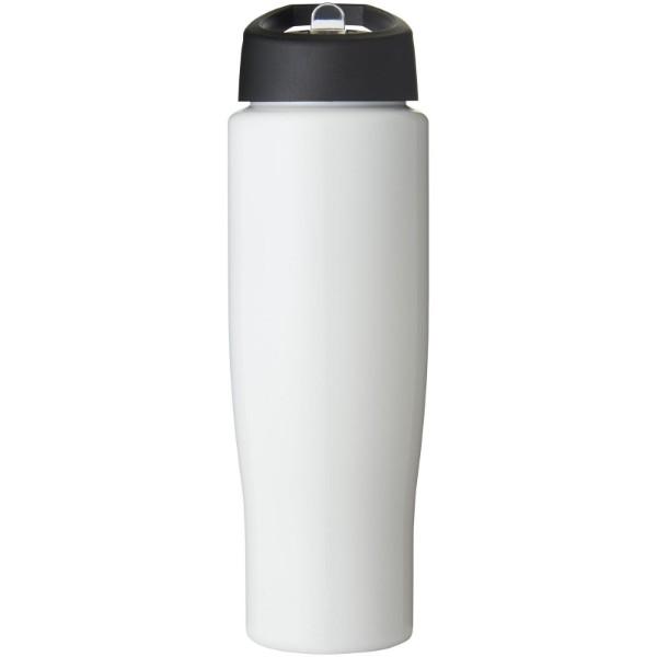 H2O Tempo® 700 ml spout lid sport bottle - White / Solid black