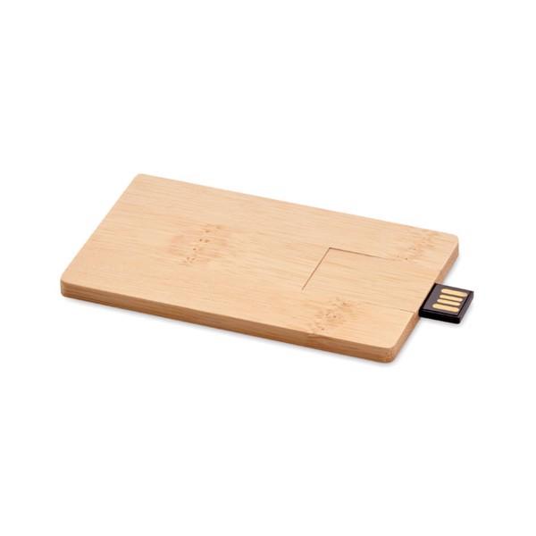16GB bamboo casing USB Creditcard Plus
