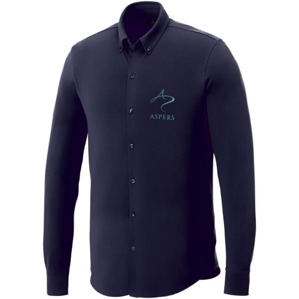 Bigelow long sleeve men's pique shirt - Navy / 3XL