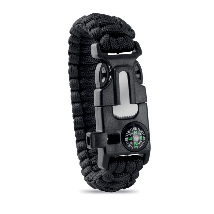 Personal Safety Kit Bracelet Survival - Black