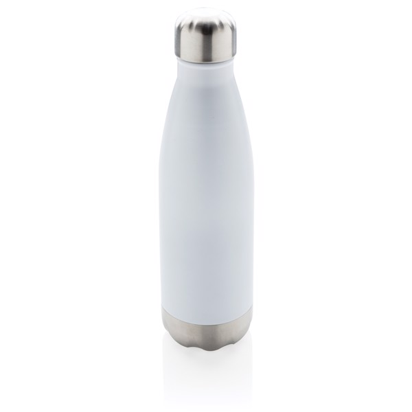 Vacuum insulated stainless steel bottle - White