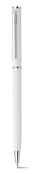 LESLEY METALLIC. Kovové kuličkové pero - Bílá