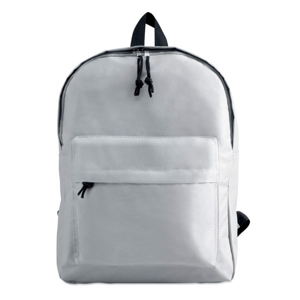 600D polyester backpack Bapal - White