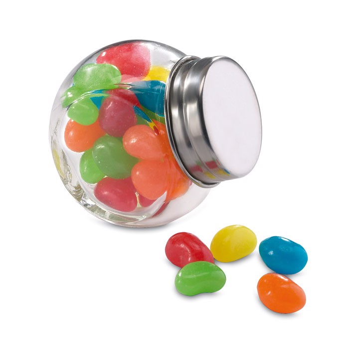 Glass jar with jelly beans Beandy