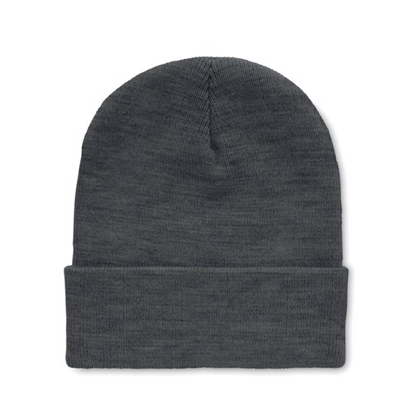 Beanie in RPET with cuff Polo Rpet - White / Grey