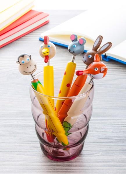 Wooden Ballpoint Pen Zoom, Rabbit - Orange