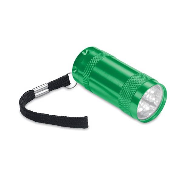 Hliníková mini svítilna Texas - green