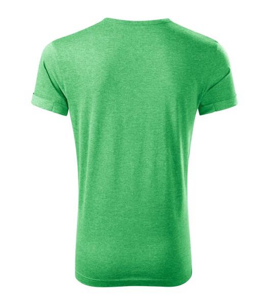 Tričko pánské Malfini Fusion - Zelený Melír / 3XL