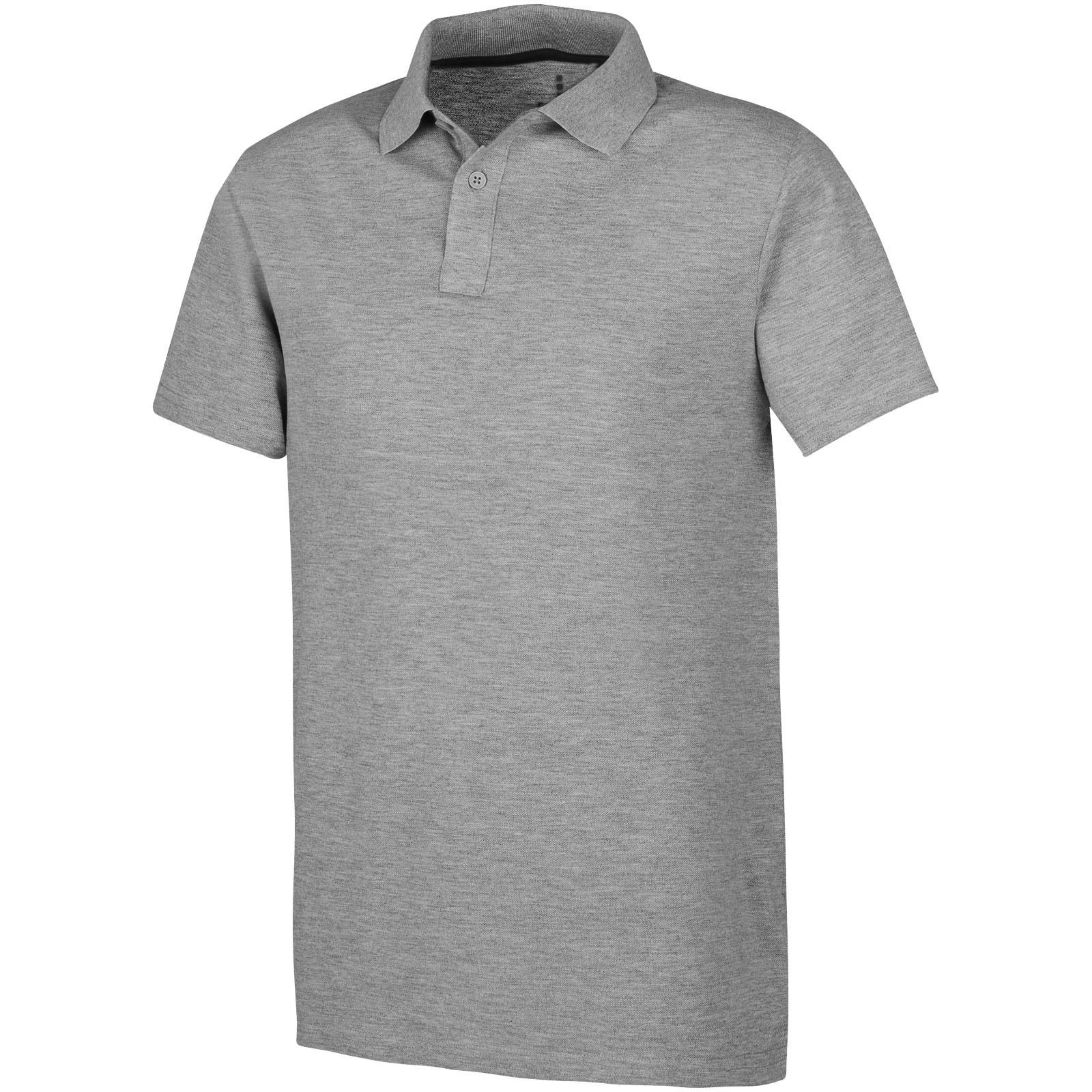 Primus short sleeve men's polo - Grey melange / XS