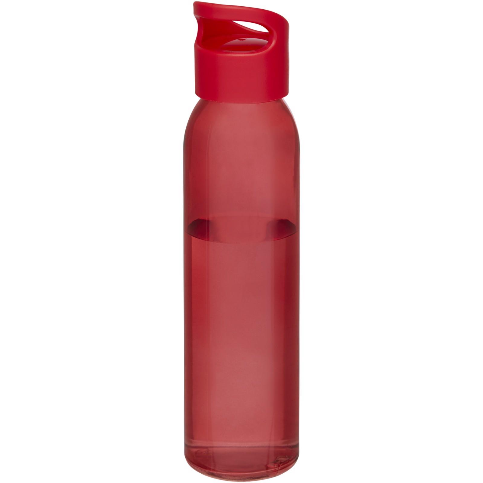 Sky 500ml skleněná sportovní láhev - Červená s efektem námrazy