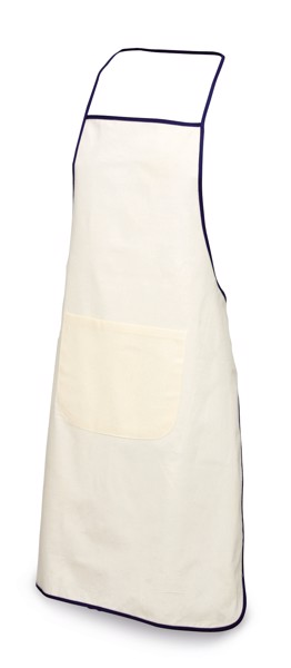 CHILLI. 100% cotton apron - Blue