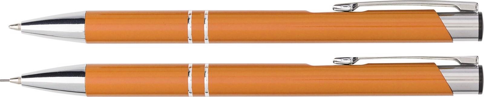 Aluminium writing set - Orange