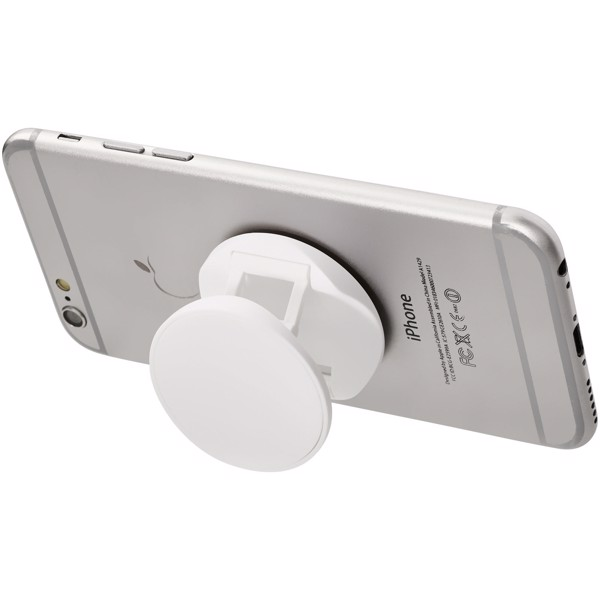 Brace phone stand with grip - White