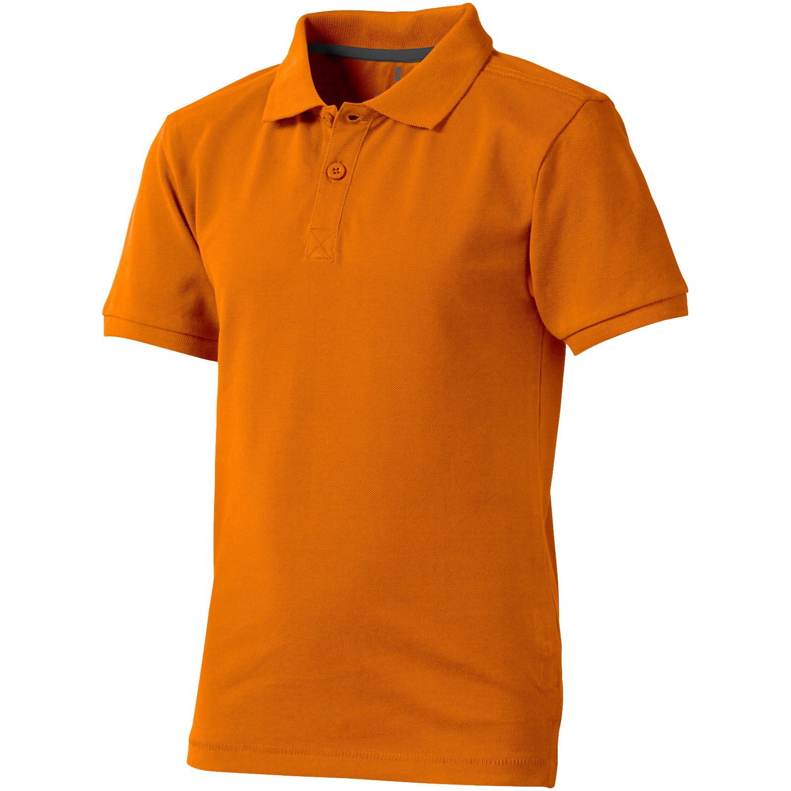 Calgary short sleeve kids polo - Orange / 116