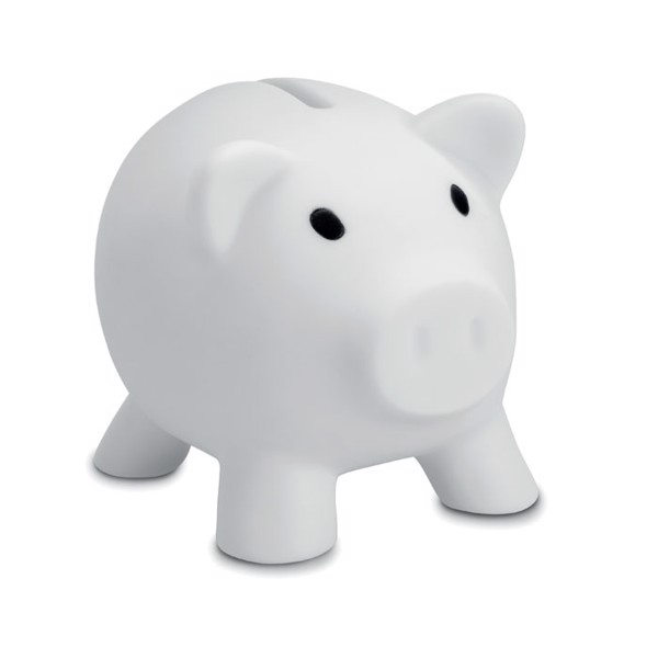 Piggy bank Softco - White