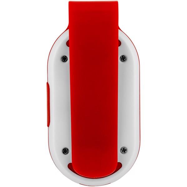 Klip Reflektorlicht - rot / weiss