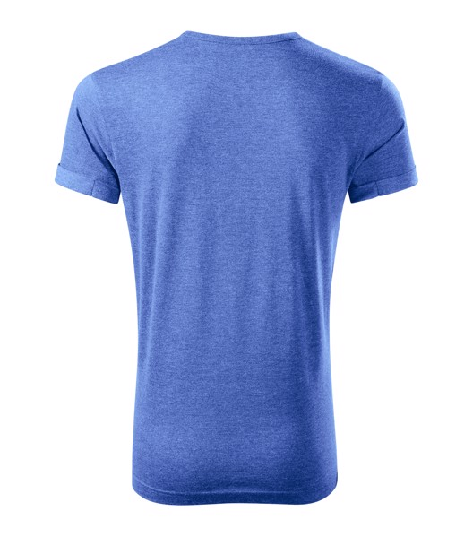 Tričko pánské Malfini Fusion - Modrý Melír / XL