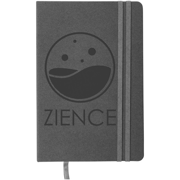 Denim A5 Hard Cover Notizbuch - Grau