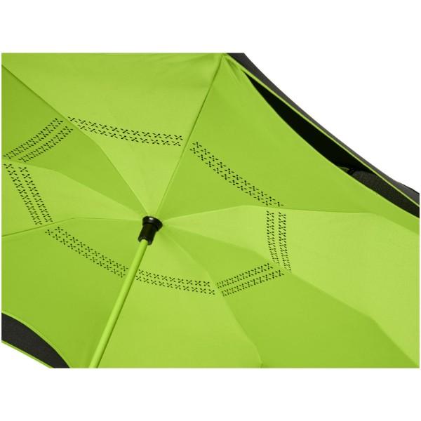 """Yoon 23"""" inverzně barevný rovný deštník - Limetka / Černá"""