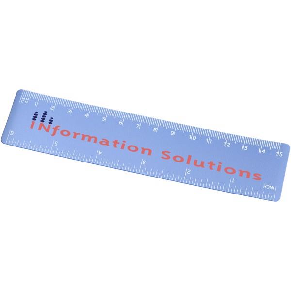 Rothko 15 cm plastic ruler - Frosted blue