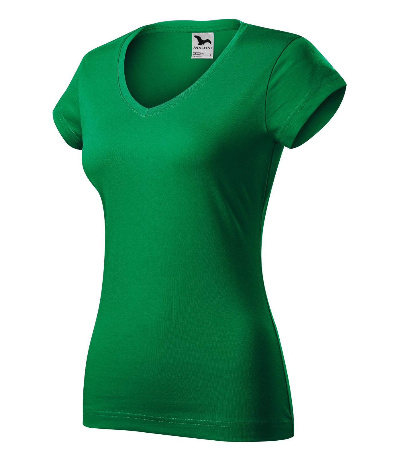 Tričko dámské Malfini Fit V-neck - Středně Zelená / 2XL