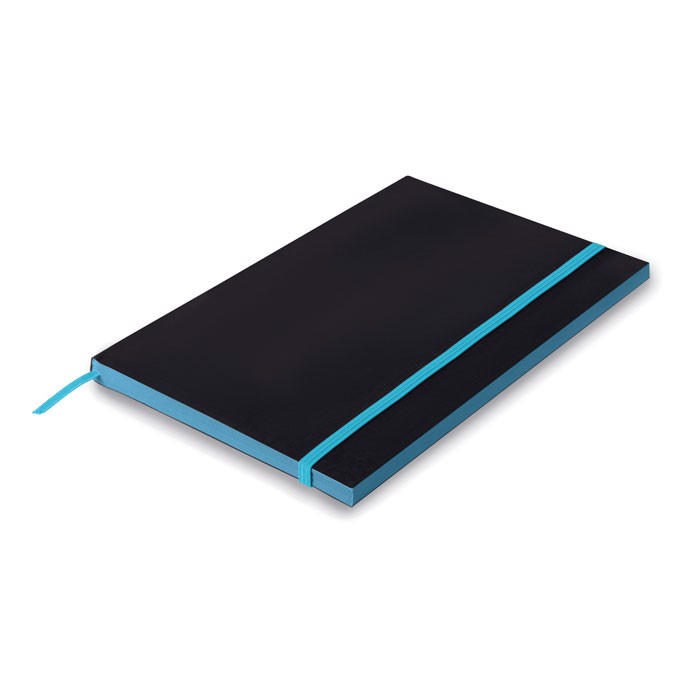 A5 Paper cover notebook lined Black Note - Turquoise