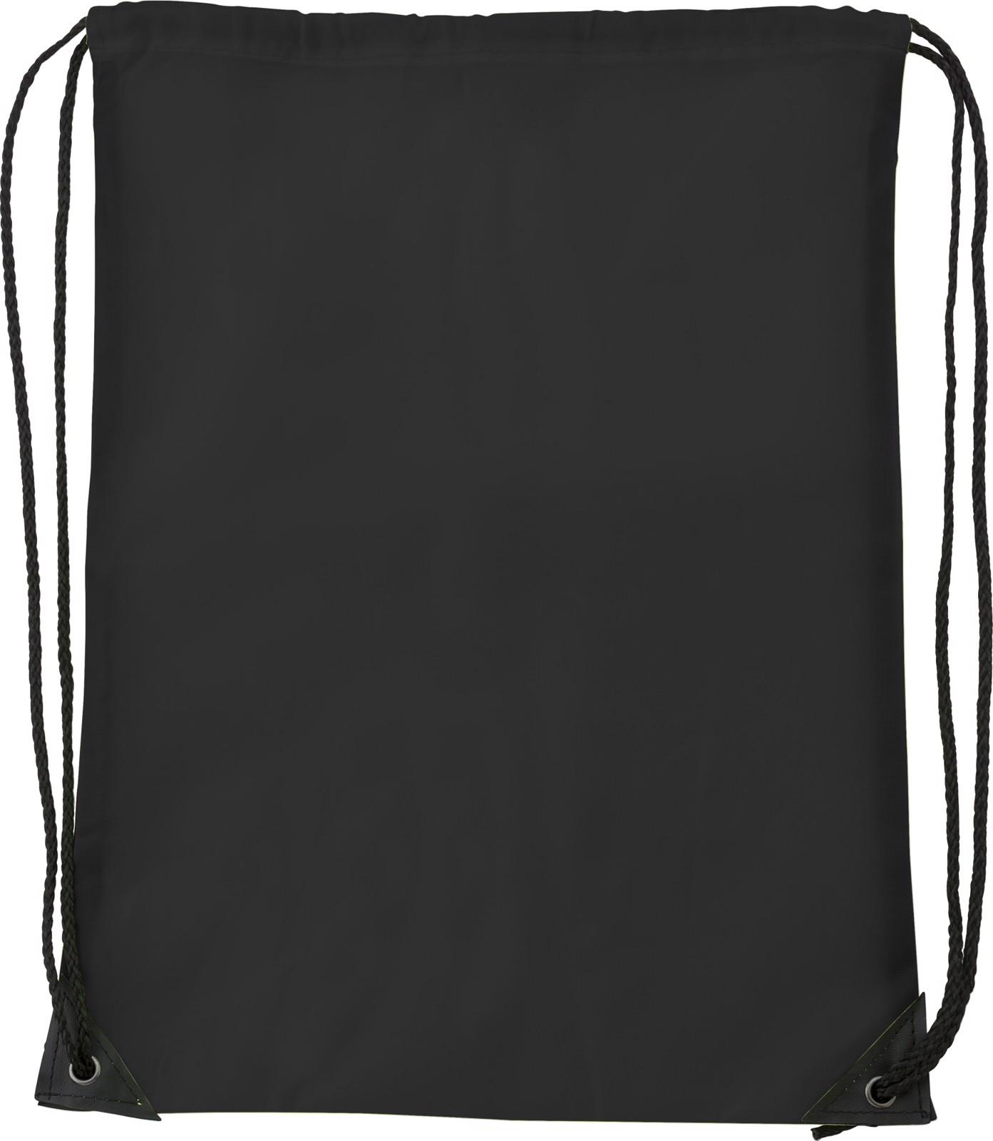 Polyester (210D) drawstring backpack - Black