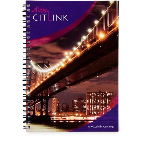 Poznámkový blok Desk-Mate® wire-o A5 - Bílá / Černá / 50 pages