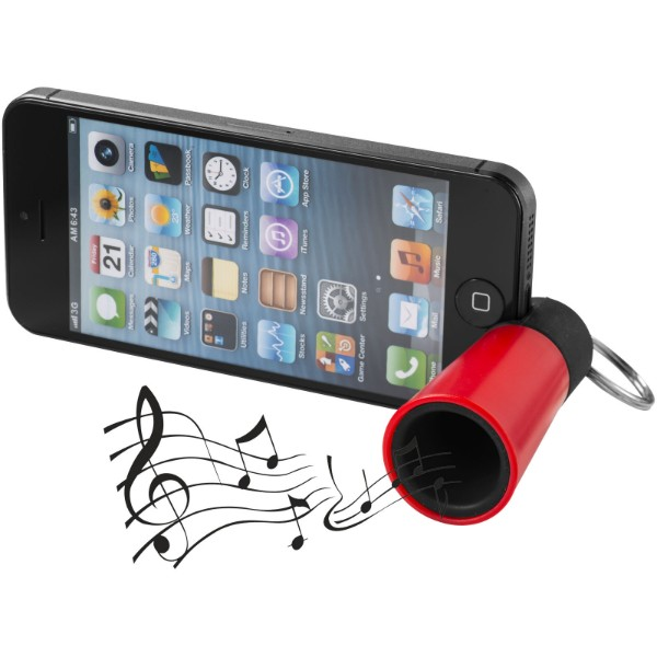 Sonic amplifier and smartphone stand - Red