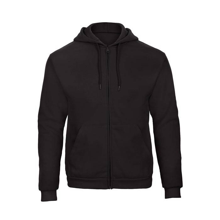 Mikina pánská Hooded Full Zip Sweat Unisex - Black/Black Opal / XS