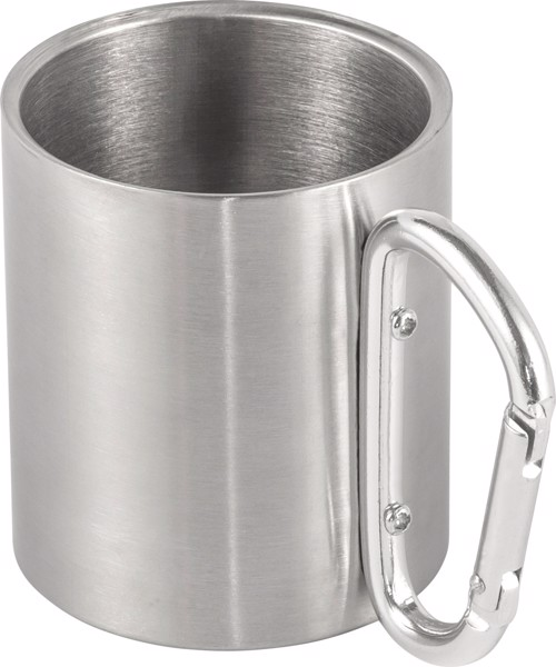 Stainless steel double walled mug - Silver