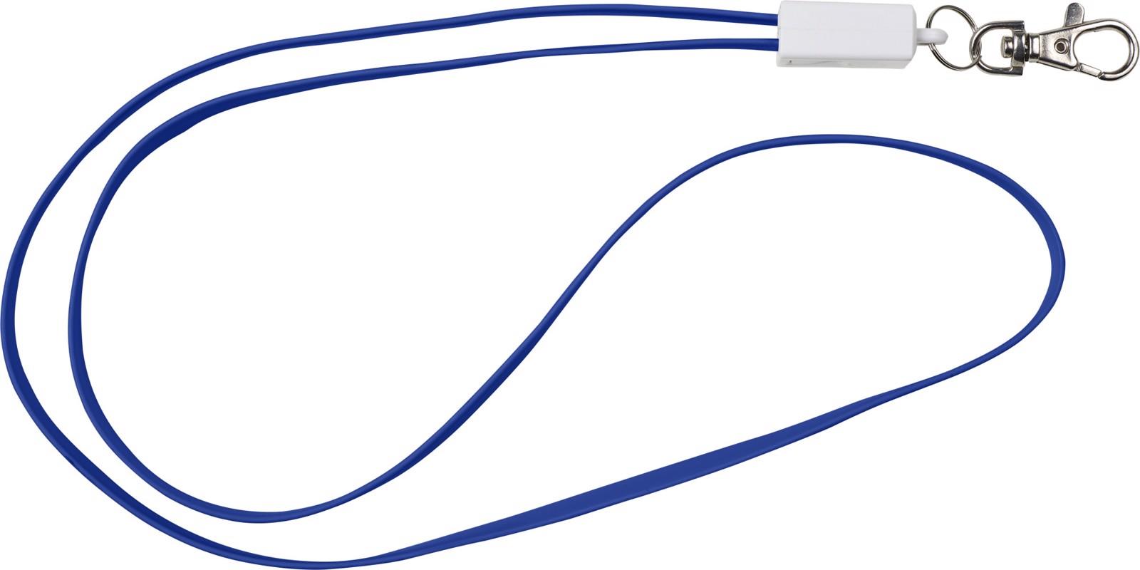TPE 2-in-1 lanyard - Blue