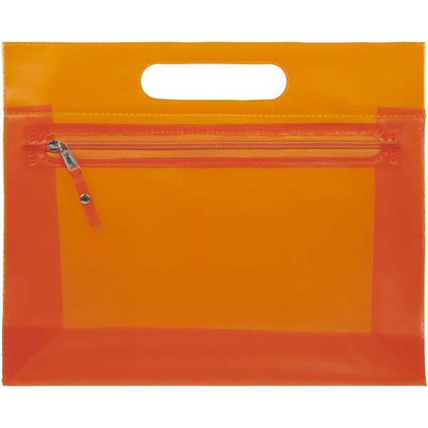 Paulo transparent PVC toiletry bag - Orange