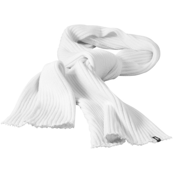 Broach scarf - White