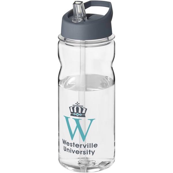 Sportovní láhev s víčkem s hubičkou Base Tritan™ 650 ml - Průhledná / Storm Grey