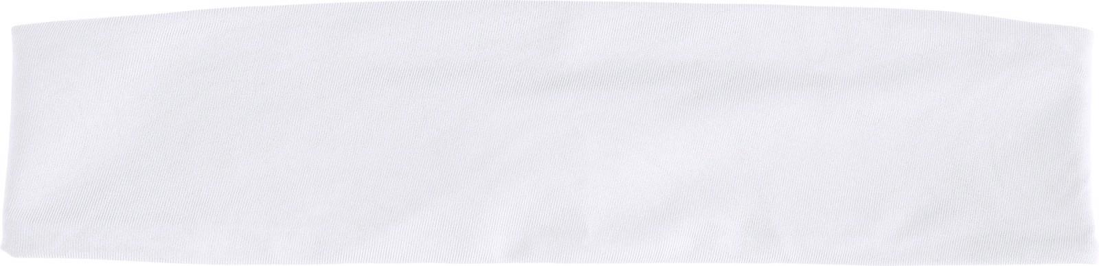 Polyester headband - White