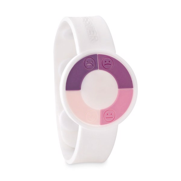 UV sensor watch in PVC Uv Check - White