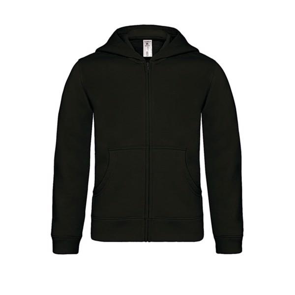Kinder Kapuzen Sweatshirt - Black/Black Opal / M