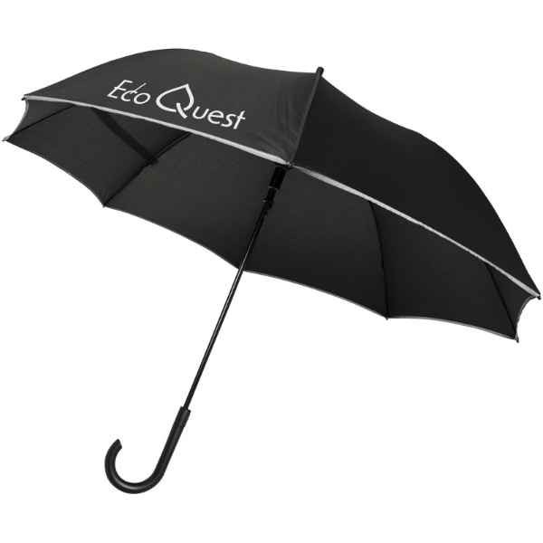 """23"""" větruodolný reflexní deštník Felice s automatickým otvíráním - Černá"""