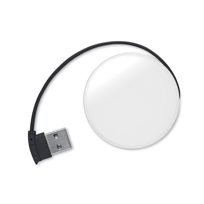 4 portový USB hub Roundhub - black