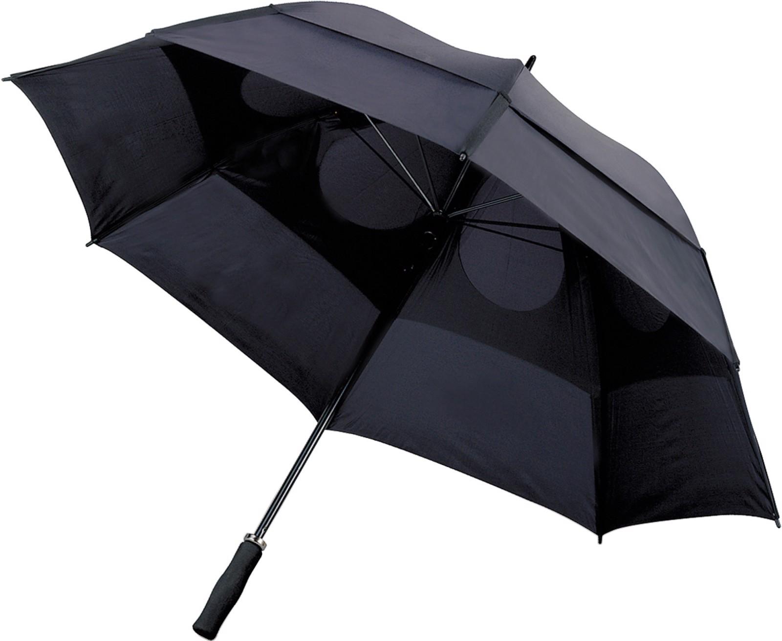 Polyester (210T) storm umbrella - Black