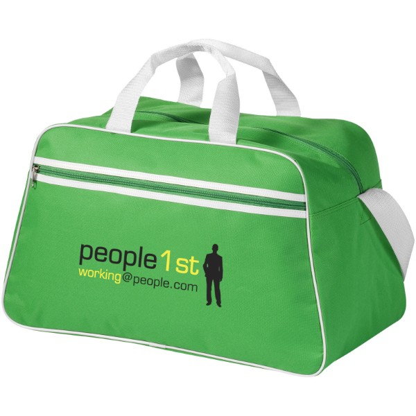 Sportovní taška San Jose - Světle zelená / Bílá