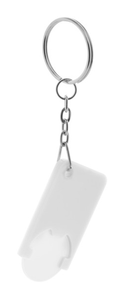Trolley Coin Keyring Beka - White