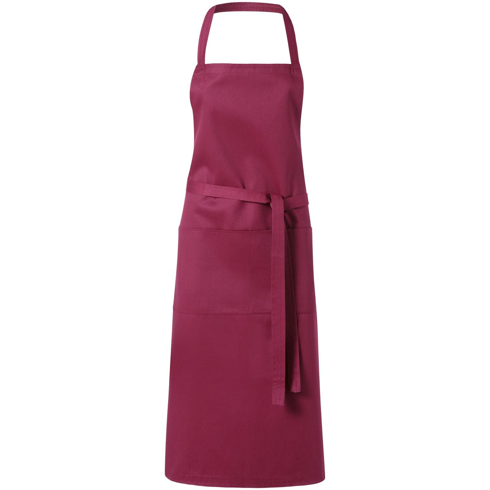 Viera apron with 2 pockets - Burgundy