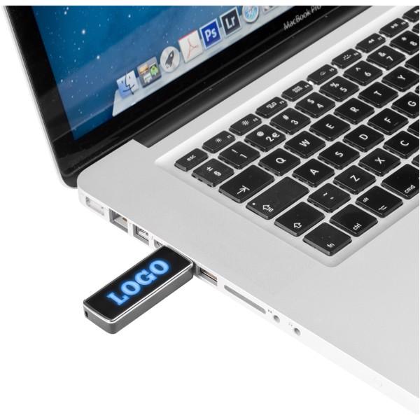 Light Up USB stick - Solid black / Blue / 32GB