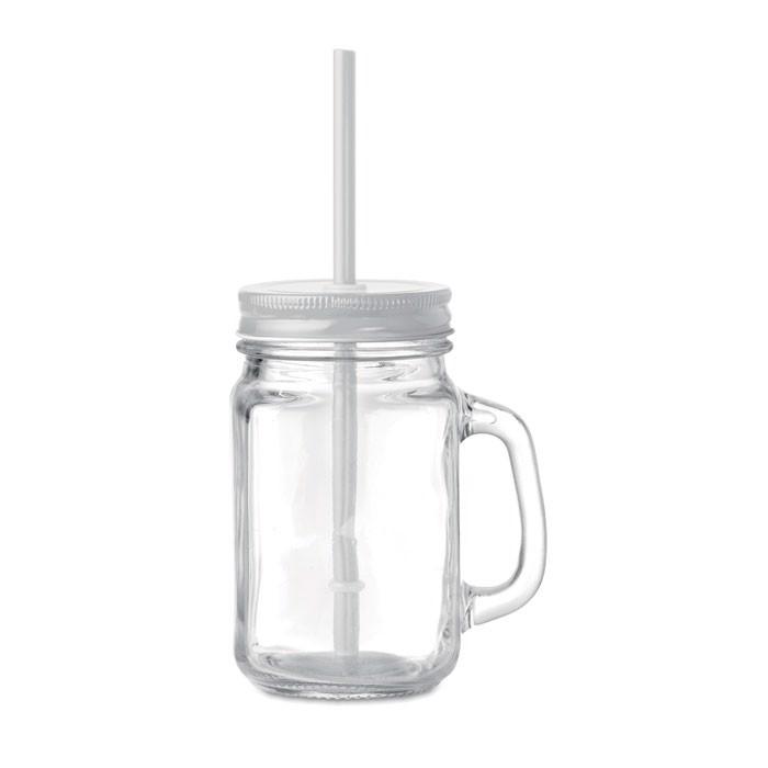 Befőttesüveg-pohár Tropical Twist - fehér-TESZT